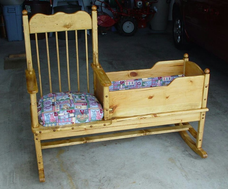 rocking chair and cradle combo 2