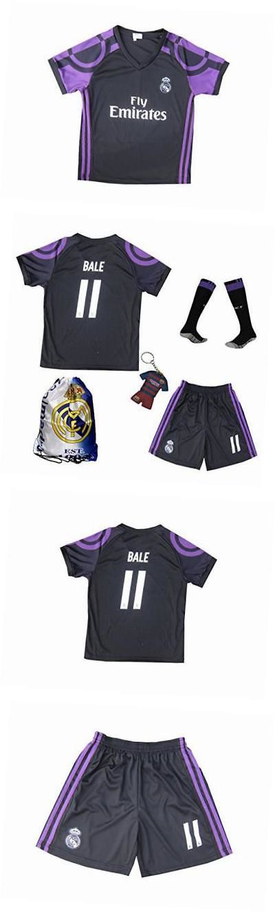 Youth 159099: 2016 2017 Real Madrid Bale #11 Away Black Football Soccer Kids Jersey And Short And -> BUY IT NOW ONLY: $48.65 on eBay!