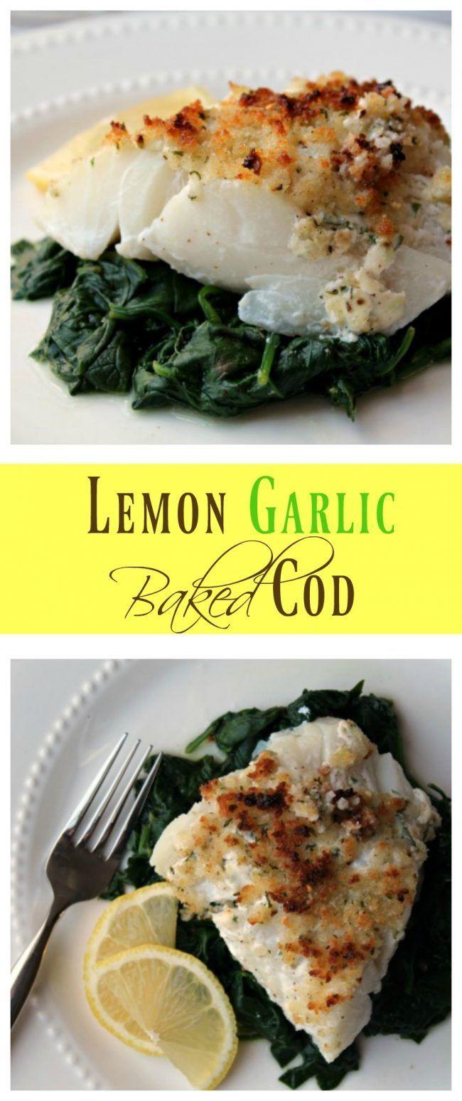 Lemon Garlic Baked Cod. Follow us @SIGNATUREBRIDE on Twitter and on FACEBOOK @ SIGNATURE BRIDE MAGAZINE