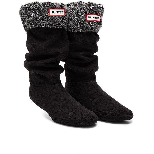 Hunter 6 Stitch Cable Boot Sock ($50) ❤ liked on Polyvore featuring intimates, hosiery, socks, cuff socks, chunky cable knit socks, cable sock, acrylic socks and hunter socks