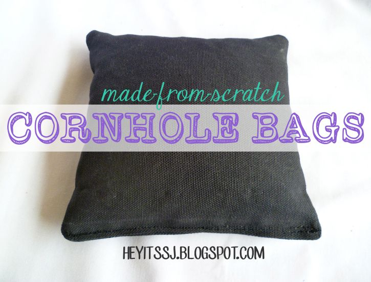 Hey, it's SJ!: DIY Did-It-Myself Made-from-Scratch, Custom Corn Hole Bags