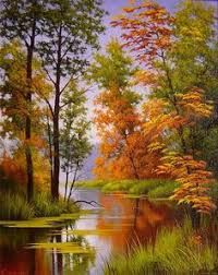 Image result for bob ross painting fall