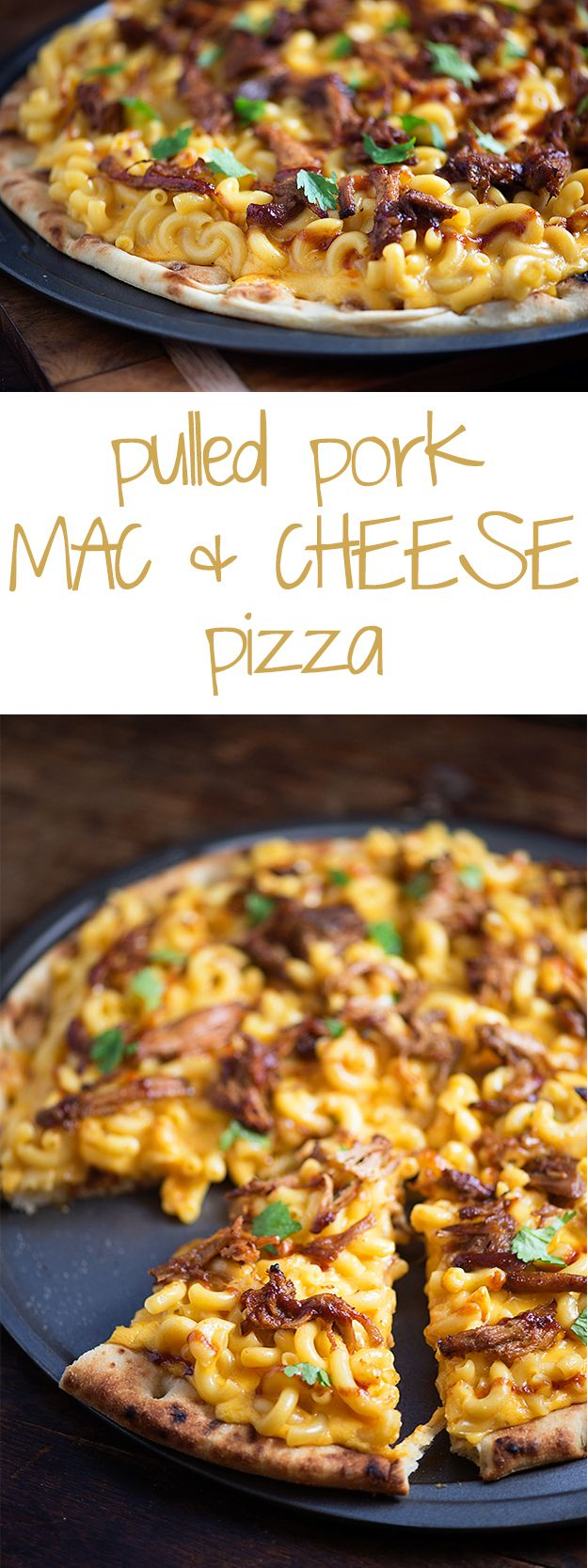 If you have leftover pulled pork, this recipe is for you! A simple creamy stove top macaroni and cheese pizza is the perfect use for that crock pot pulled pork!