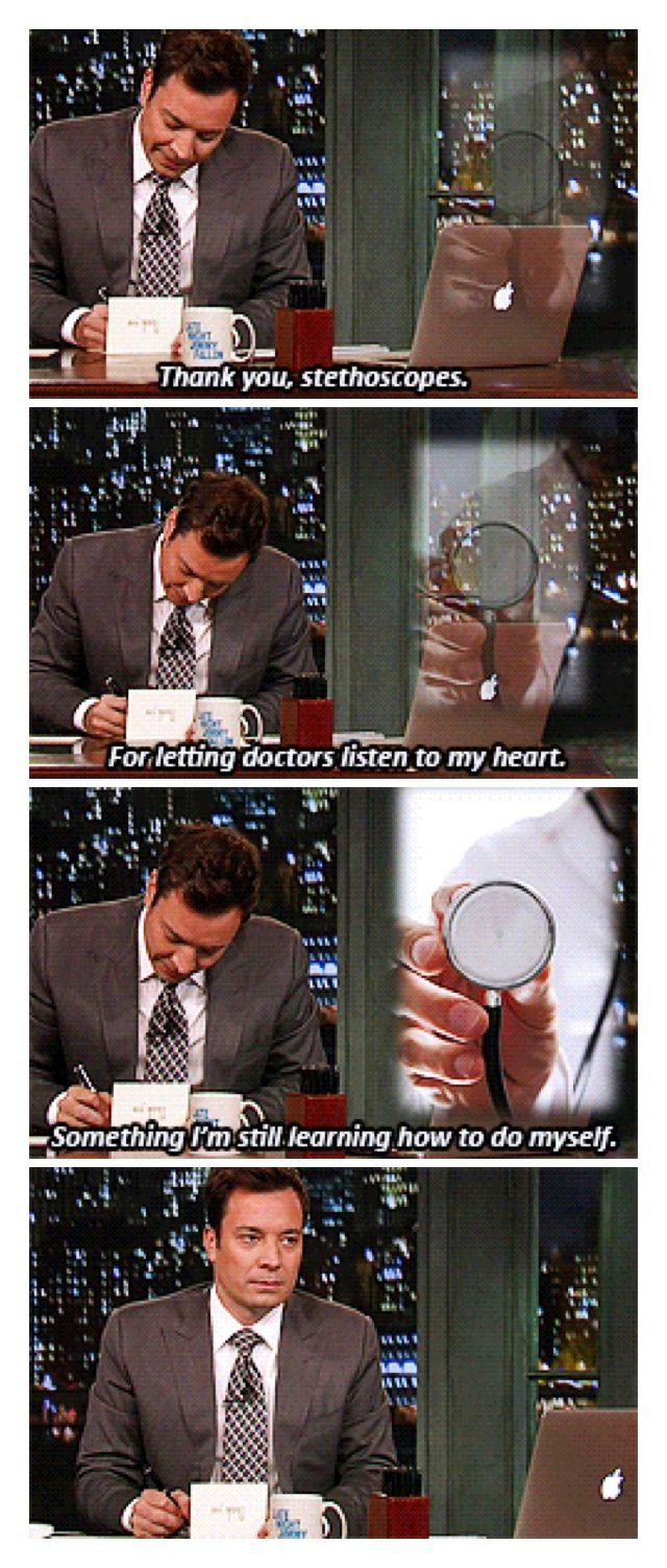 Thank you notes, late night with jimmy fallon http://latenightjimmy.tumblr.com/post/61406172007/sometimes-thank-you-notes-gets-personal