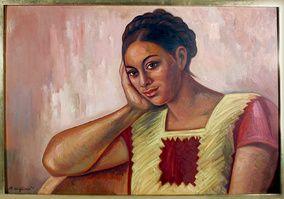 Mujer de Juchitan, 1974 Raúl Anguiano