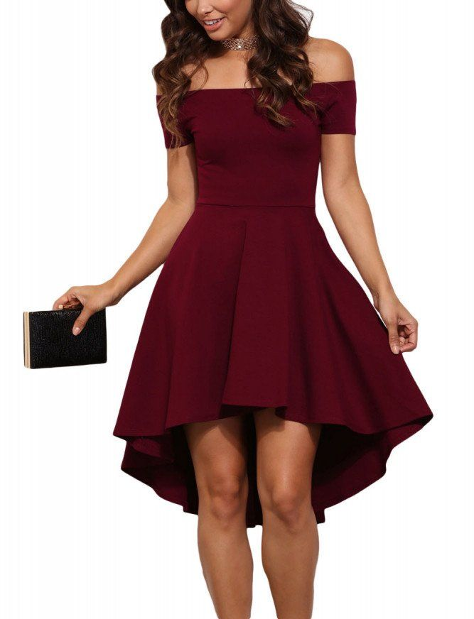 Burgandy Rave Skater Dress