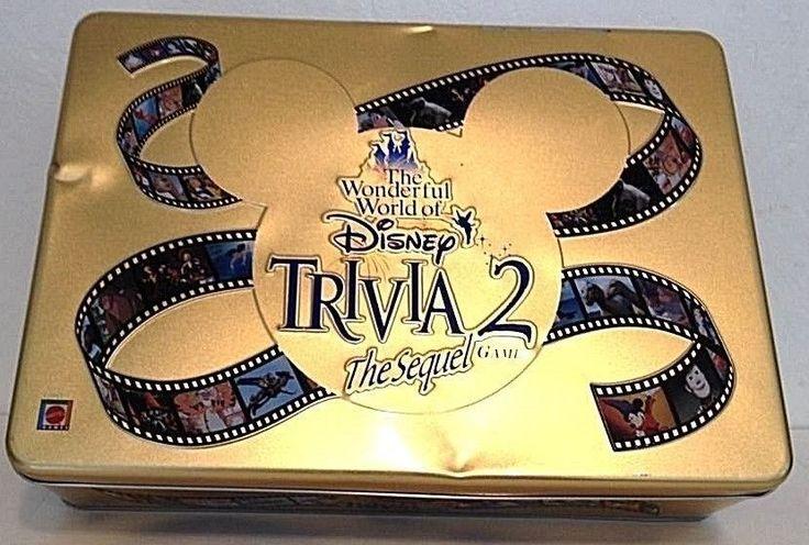 The Wonderful World of Disney Trivia 2 Sequel -- in Tin--  2000 #Mattel