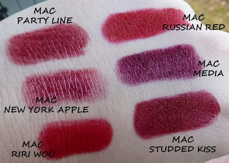 MAC RUSSIAN RED VS STUDDED KISS