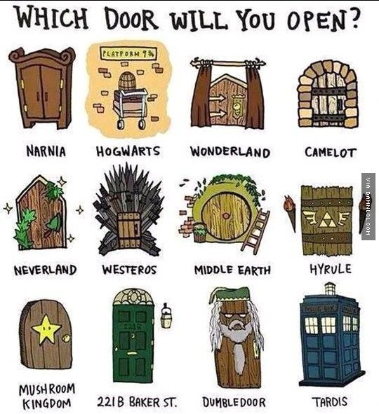 Definitely either Hogwarts or Middle Earth. Who on earth would go to Westeros! Everybody dies there! Dumbledoor- lol!