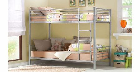 Joseph Beds Joseph Metal Bunk Bed Joseph Metal Bunk BedKids love bunk beds and the Joseph metal bunk bed will be no exception to the rule. This cool silver bed will bring a great contemporary look to their bedroom. This bed will provi http://www.comparestoreprices.co.uk/bunk-beds/joseph-beds-joseph-metal-bunk-bed.asp