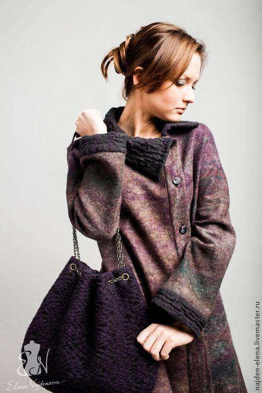 Купить валяный труакар - пальто, легкое пальто, труакар, авторское пальто, пальто женское