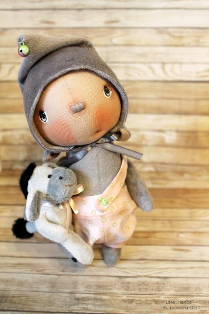 :: Crafty :: Cloth Doll :: 2 :: Set of 2 dolls: Laia and boy, made with a lot of love!