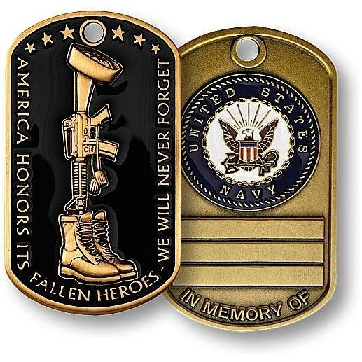Fallen Heroes Dog Tag - Navy