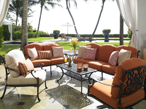 Antiqued Bronze Valencia Weather Resistant Patio Set A Fifth U0026 Shore  Collection By CarlsPatio.com