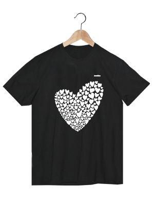 Camiseta en algodón orgánico en color negro para chico Valentina   www.strambotica.es