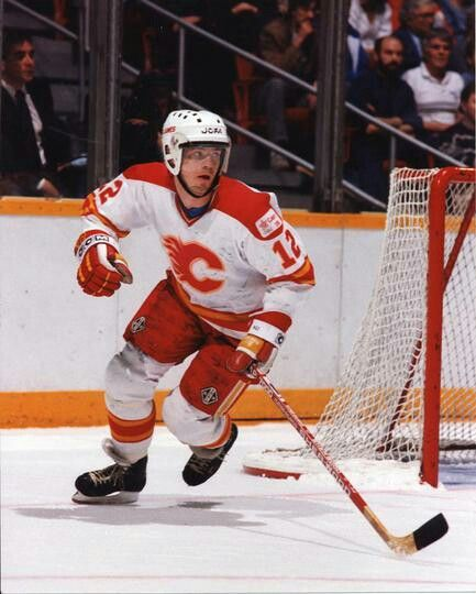 Hakan Loob | Calgary Flames |  Great Swedish player. NHL All-Rookie Team in 1983–84 and in 1987–88 was named a First Team All-Star. He was the first Swedish player to score 50 goals in one NHL season (1987-88). He won the Stanley Cup with Calgary the following year and returned to Sweden.