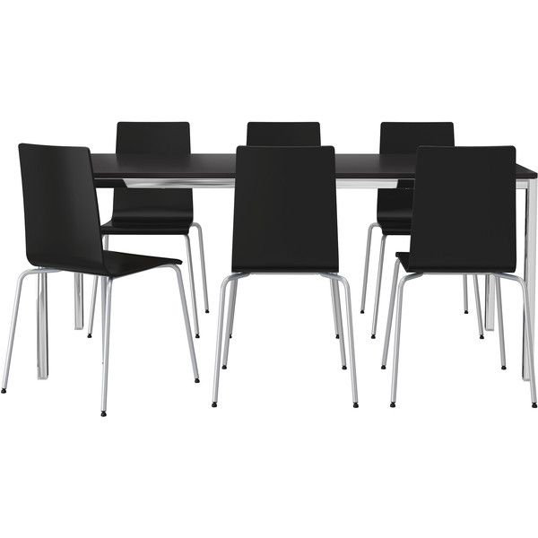IKEA TORSBY MARTIN Table And 6 Chairs Chrome Plated Brown Black