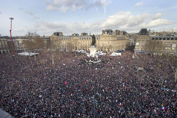 Massive rally against ISLAM in France.