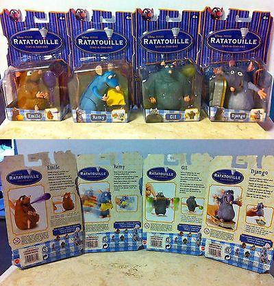 Ratatouille 158767: Set Of 4 Disney Pixar Ratatouille Characters: Git, Django, Remy, Emile -> BUY IT NOW ONLY: $50 on eBay!