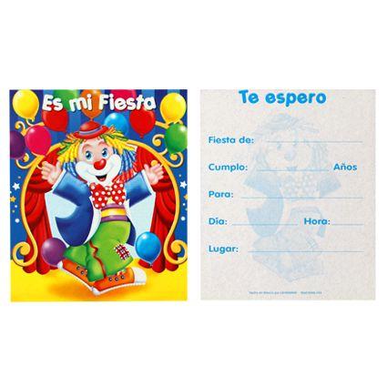 #invitacion #Payaso #kitfiesta ww.kitfiesta.com
