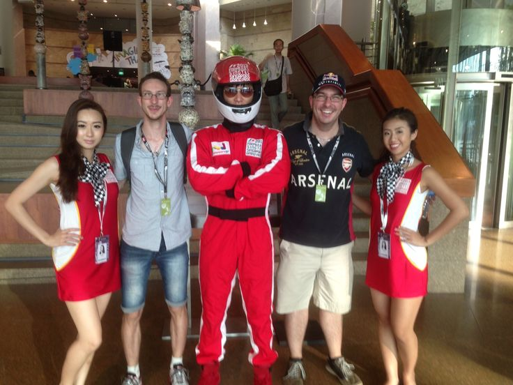 The boys at the Singapore Grand Prix