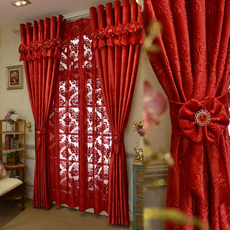Beautiful Red Curtains For Living Room Ideas - Home Design Ideas ...