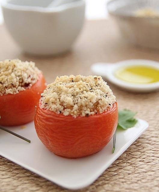 Cous cous stuffed tomatos
