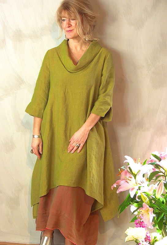 Flutted Tunic £265 over Emily Skirt £245, (Other colours available). Always stylish, made by craftspeople who care.....