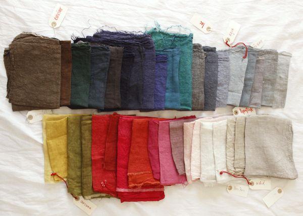 Manuelle Guibal colour swatches