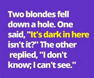 blonde jokes - Bing Images
