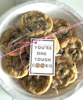 "Get Well, Encouragment ""You're One Tough Cookie"" Tag"