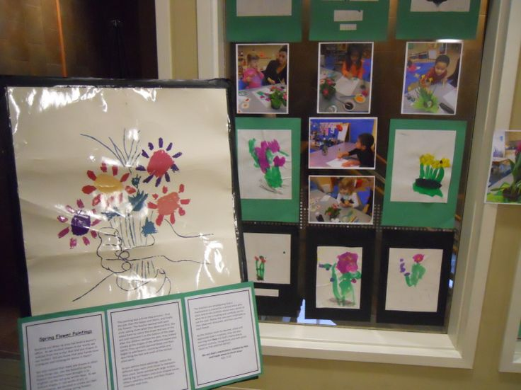Look how this art poster inspired children's paintings!  Love the photos of children showing the process.