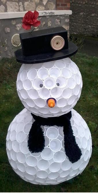 226 best mes petits bricolages images on pinterest bricolage decorated candles and pants - Comment faire un bonhomme de neige en gobelet ...