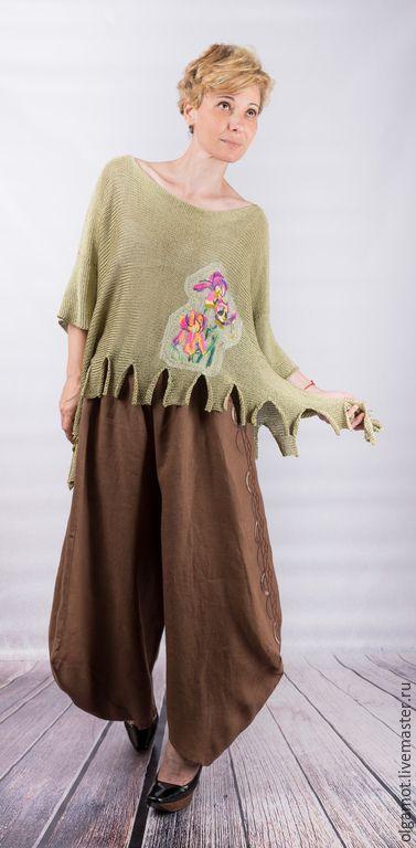 Кофты и свитера ручной работы. кофта вязанная в стиле бохо. Необходимые вещи. Ярмарка Мастеров. Одежда больших размеров