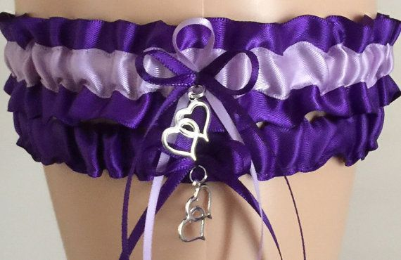 Royal Purple and Orchid Purple Wedding Garter Set, Wedding Gift, Purple Bridal Garter Set, Prom Garter, Weddings