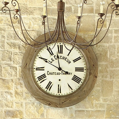 love this farmhouse clock from Ballard Designs purchasing this for our greatroom so excited I love this!