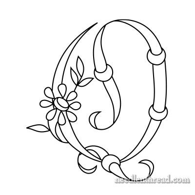 (^_^) Daisy and Rings Free Monograms for Hand Embroidery: Q