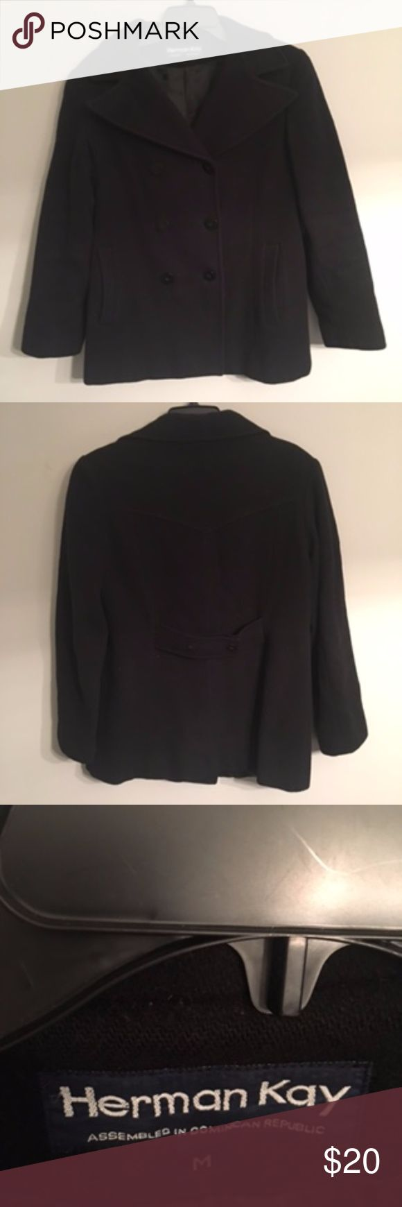 **SALE**!! 100% WOOL Black Pea Coat Women's Size M 100% WOOL Black Pea Coat Women's Size M - VERY WARM, good condition!! Fully lined. Great staple piece for your fall & winter wardrobe. Jackets & Coats Pea Coats