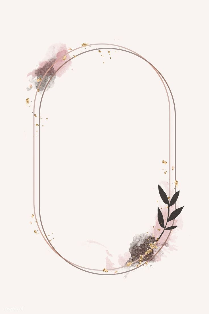 Download premium vector of Glittery floral oval frame vector 1201183