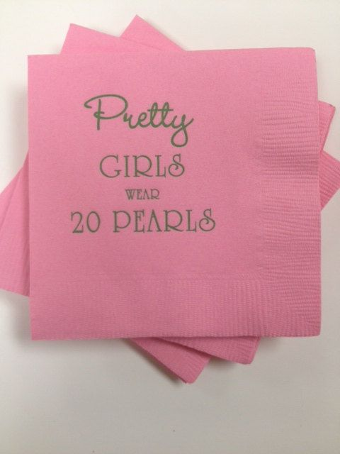 Cocktail Napkin Pretty Girls Wear Twenty by YourSocialSecretary, $5.00