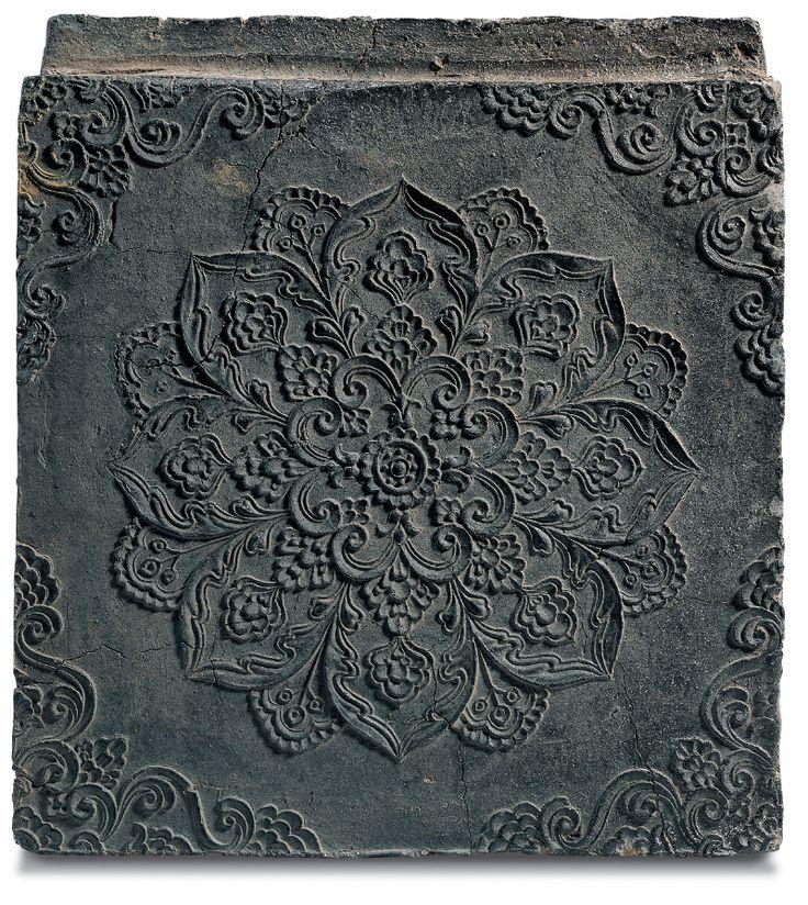 [Antiquity-Three Kingdoms Period(Silla)] Brick with Floral Medallion Design