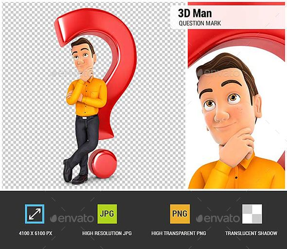 3d Man Leaning Back Against Question Mark This Or That Questions Question Mark 3d Man