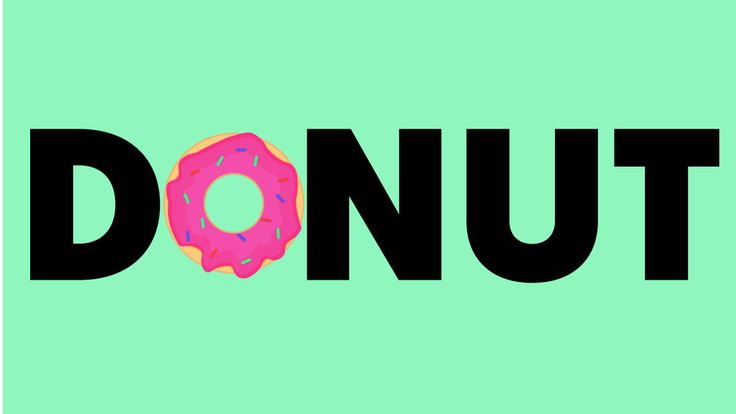Delicious Donut- Typography by GrubyKisiel.deviantart.com on @DeviantArt