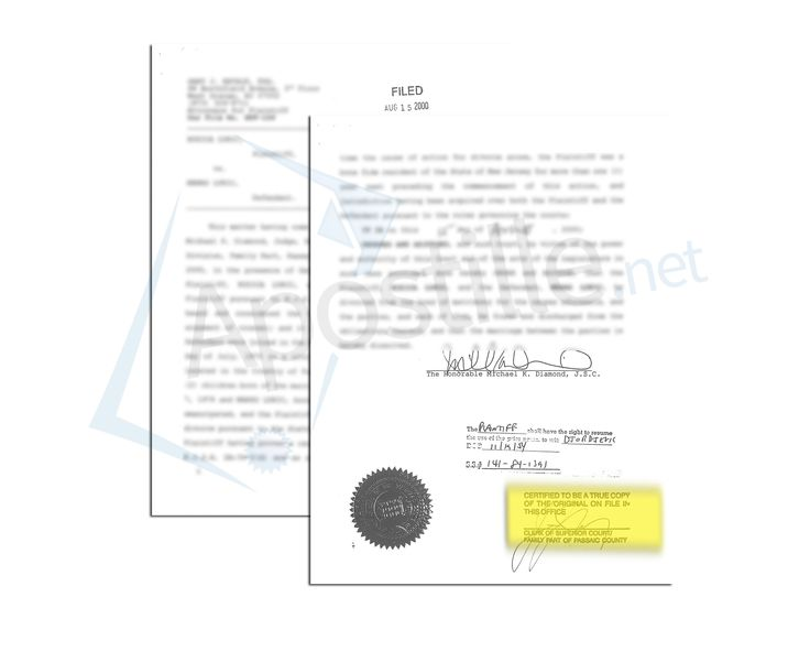 State of New Jersey Certificate of Marriage issued by Vincent T ...