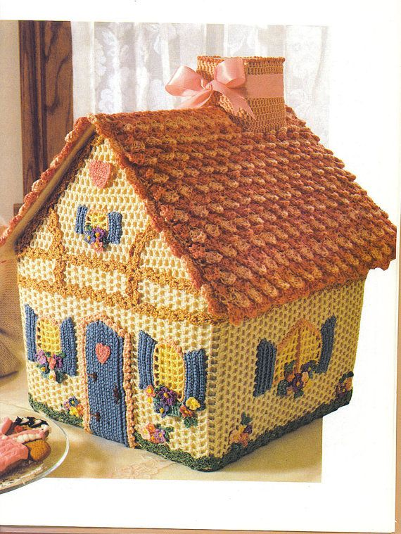 PATTERN  Crochet Gingerbread House Pattern  start a by NanasKnits, $5.00can be a cute Tea cosy with some different colors