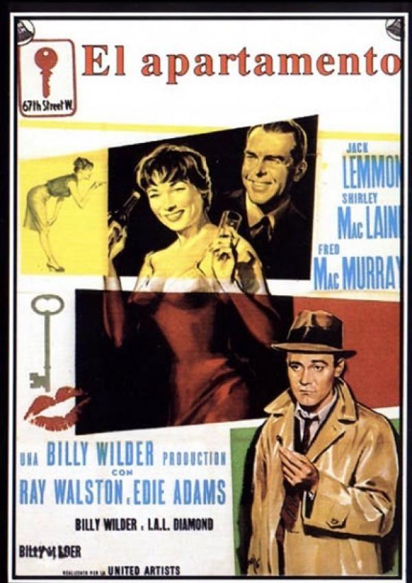 C.C. Baxter (Jack Lemmon) es un modesto pero ambicioso empleado de una compañía de seguros de Manhattan. Está soltero y vive solo en un discreto apartamento que presta ocasionalmente a sus superiores para sus citas amorosas. Tiene la esperanza de que estos favores le sirvan para mejorar su posición en la empresa. Pero la situación cambia cuando se enamora de una ascensorista (Shirley MacLaine) que resulta ser la amante de uno de los jefes que usan su apartamento (Fred MacMurray).