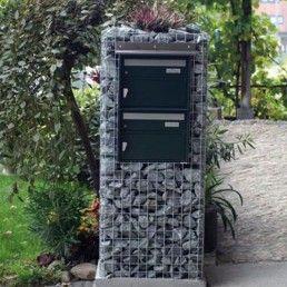 gabion | Gabion et boite aux letres | Mailbox, Garden structures, Home projects