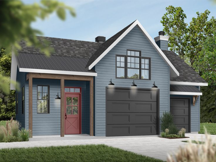 028g 0069 1 Car Garage Workshop Plan In 2020 Garage Workshop Plans Car Garage Country Style House Plans