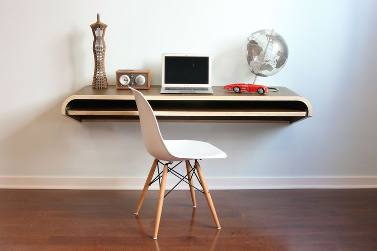 Minimal Float Wall Desk - Walnut