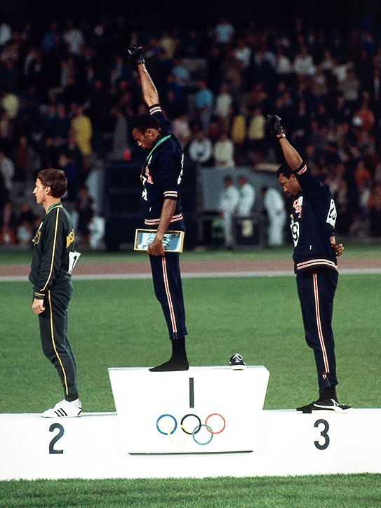 Fists of Fury - Tommie Smith and John Carlos 1968 Olympic's Gold Medal Ceremony Black Power Protest Black Power Salute, Neil Leifer, Tommie Smith, 1968 Olympics, Olympic Gold Medals, Team Usa, Advertising Poster, Artistic Photography, Sports Illustrated